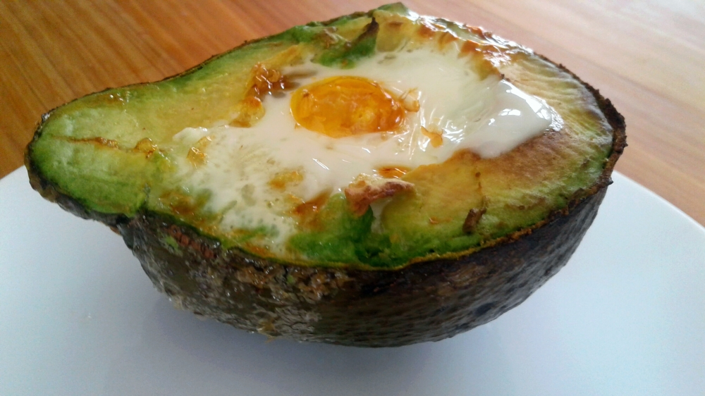 Quick lunch!   Crack an egg into an avo pip hole. Throw under the grill for 5 to 10 minutes.   Time in the kitchen: 2 seconds!   Effort: nearly zero 😂